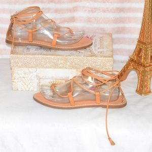 MADEWELL Minimalist Gladiator Leather Sandals 7.5